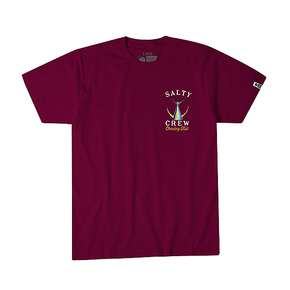 Tailed Short Sleeve T-shirt Burgundy