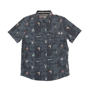 Bonzarelly Short Sleeve Woven Shirt - Navy