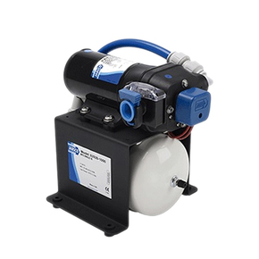 12V Water Pressure Pump with Accumulator Tank - 18Lpm