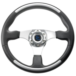 Cruiser Steering Wheel - Black with Aluminium Finish