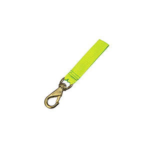 Yellow Brass Dog Snap Chip with Strap