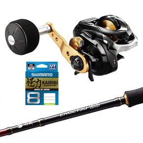 GENPU 200PG Reel / ENGETSU BB 6ft9 SLOWJIG BOAT Rod COMBO W/BRAID