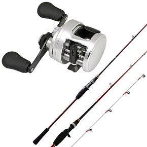CALCUTTA 400D Reel / ENGETSU 6'9 SLOWJIG PE1.5 BOAT Rod COMBO W/BRAID