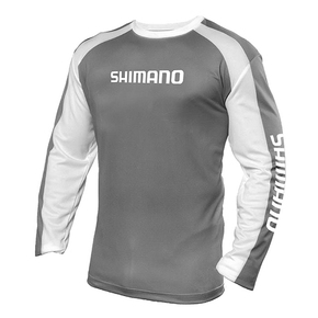 Long Sleeve Tech Tee Shirt - White / Grey