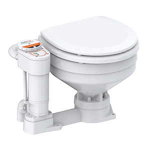 12v Deluxe Compact Size Bowl Electric Toilet W/Reversible Pump (New)