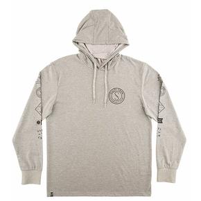 Palomar Hooded Long Sleeve Tech Shirt - Charcoal Heather
