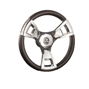 Italia Sport Black/Chrome Steering wheel