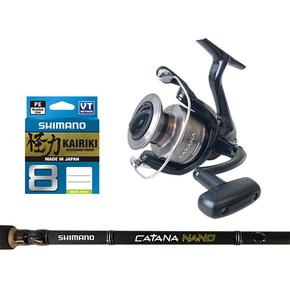 Catana 4000FDHG Reel / Catana Nano 7ft3 6-8kg 2pce Spin Rod Combo