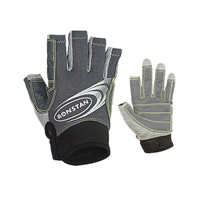 Three Finger Sailing Race Gloves - Grey