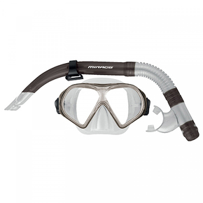 SET19 FREEDOM ADULT MASK & SNORKEL SET - Smoke