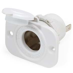12 Volt Dash Cigarette Socket - White