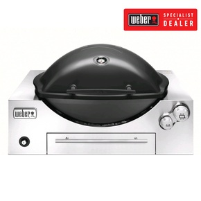 Q3600 LPG (Suits LPG Gas Bottle) In-Built Family Barbeque (BBQ) Grill/Black