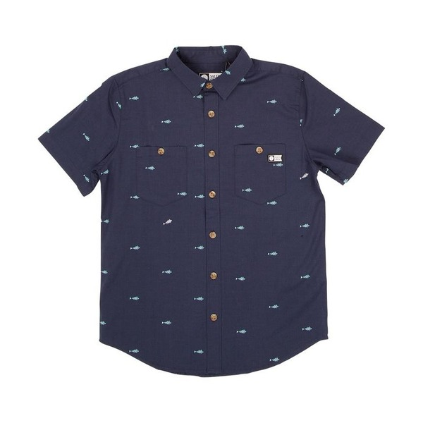 Provisions Short Sleeve Woven Kids Shirt - Navy