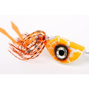Beady Eye Kabura Jig - Crackled Orange