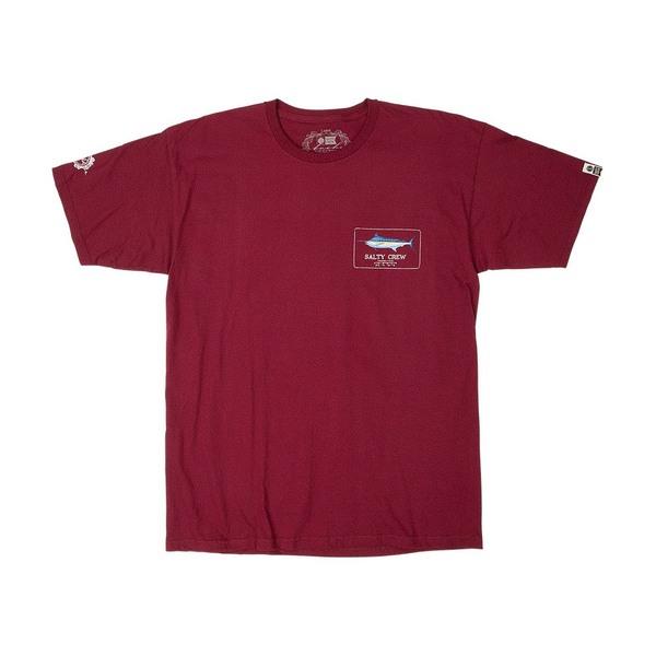 Blue Rogers short Sleeve T-Shirt - Burgundy