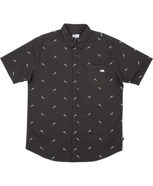 Lured Short Sleeve Woven Shirt - Black