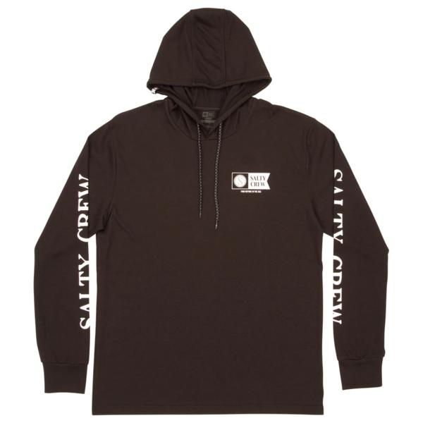 Alpha Hood Long Sleeve Tech T-Shirt - Black