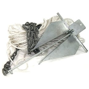 Anchor Kit-10S Danforth/50m x 10mm Rope/4m Chain