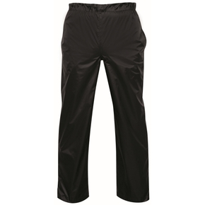 Unisex All Weather Waterproof Breathable Trousers / Over Pants- Black/ XXL