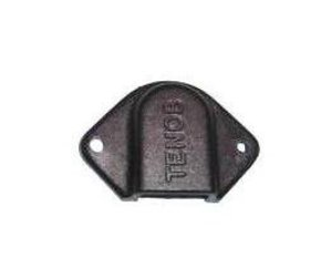 Black Cable Outlet Cover 48x32x9mm