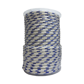 Precut 10mm x 50m Yacht Racing Braid - Blue/Black Fleck