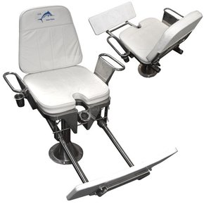 Medium 80lb Game Fishing Chair w/Upholstery & Foot Rest