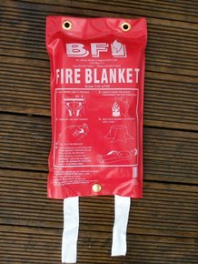 Emergency Regulation Fire Blanket- 1 x 1 mtr Unfolded