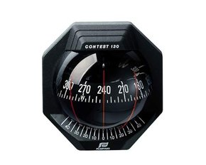 Contest 130 Bulkhead Mount Marine Compass-Black/130mm Card
