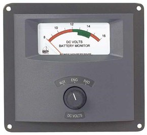 Analogue Voltmeter/Battery Monitor  - 3 Bank