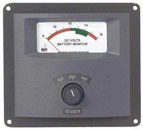 Analogue Voltmeter/Battery Monitor  - 3 Bank