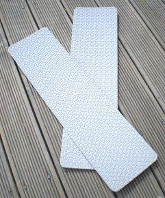 Non Slip Deck Tread - Self Adhesive - White - 425x120mm (2-pk)