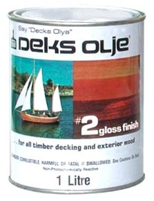 Olje #2 Clear Gloss Teak Wood Finish (Top Coat)- 1 Litre