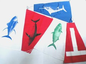 Game Fishing Catch Flag Set-5 flags