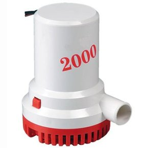 2000GPH/ 12v H/Duty Bilge Pump - 28mm Hose Outlet