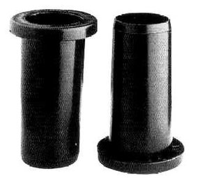 Pair of Black PVC Sleeves/Collars for Oars