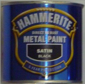 Satin Black Direct to Rust Enamel 250ml - Smooth Finish