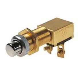 Marine Grade Starter Button or Push Button (Momentary On) Switch- 12/24 Volt
