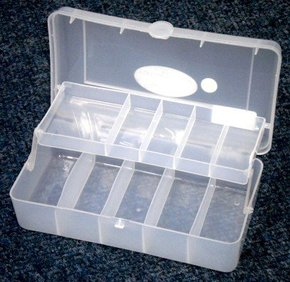 2 Tray Small Utility Fishing Tackle Box