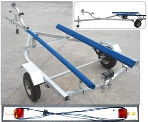 Flat Bed Large Dinghy/Inflatable Boat Trailer w/Lights