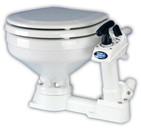 Premium Manual Marine Toilet  Compact Bowl