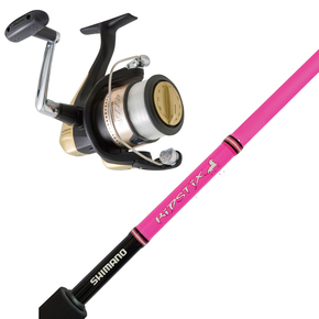 Hyperloop 4000FB Reel with Lipstix Pink Spinning Fishing Rod 4-6kg 5'5""