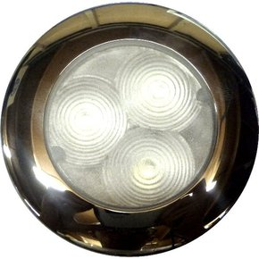 SS 3 LED Hi Power 70mm Cabin Light - Surface or Flush Mount - Cool White