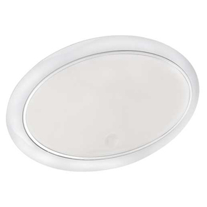 Surface Mt Low Profile Oval 12v LED Ceiling Light - Touch Switch