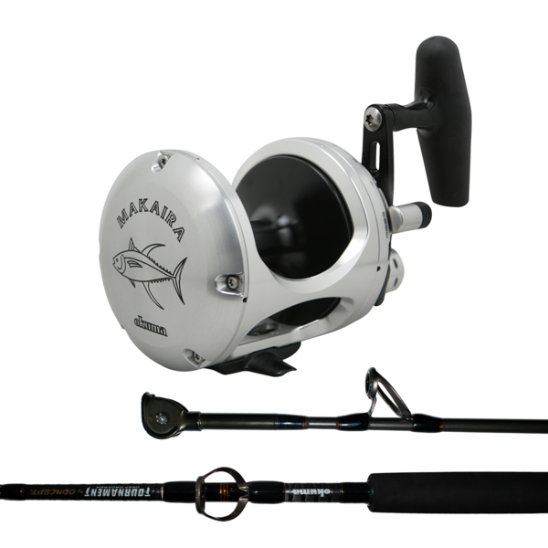 Makaira 50 2-Speed Silver / Tournament Concept 24-37KG with Tufline 130LB