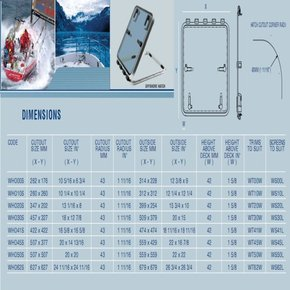 Magnus 6363 Offshore Hatch 679x679mm - (WHO62) - Silver
