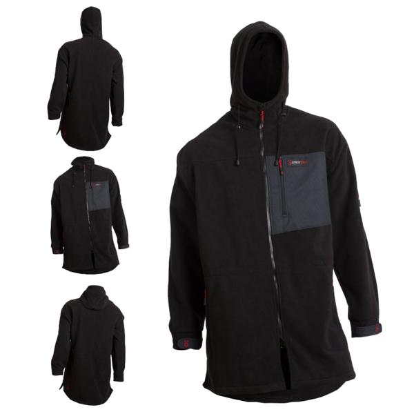 Mokau Heavy Fleece Jacket - Black