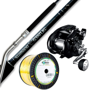 Combo Forcemaster 9000 Reel / Status 5'6 Bent Butt Game Rod with 80lb Braid