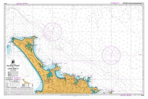 NZ 51 Hydrographic Nautical Chart- Tauroa Point to Cape Brett