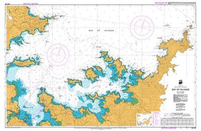 NZ 5125 Hydrographic Marine Chart- Bay of Islands