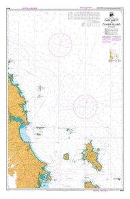 NZ 52 Hydrographic Nautical Chart- Cape Brett to Cuvier Island
